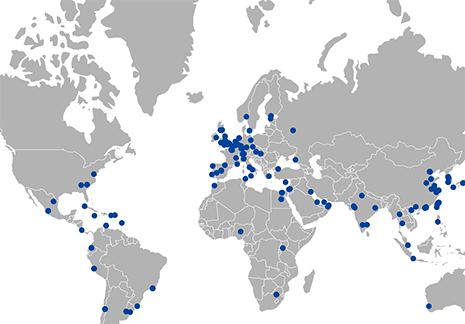 Map of Global Carolina activities
