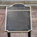 New plaques on the horseshoe honor enslaved men and women