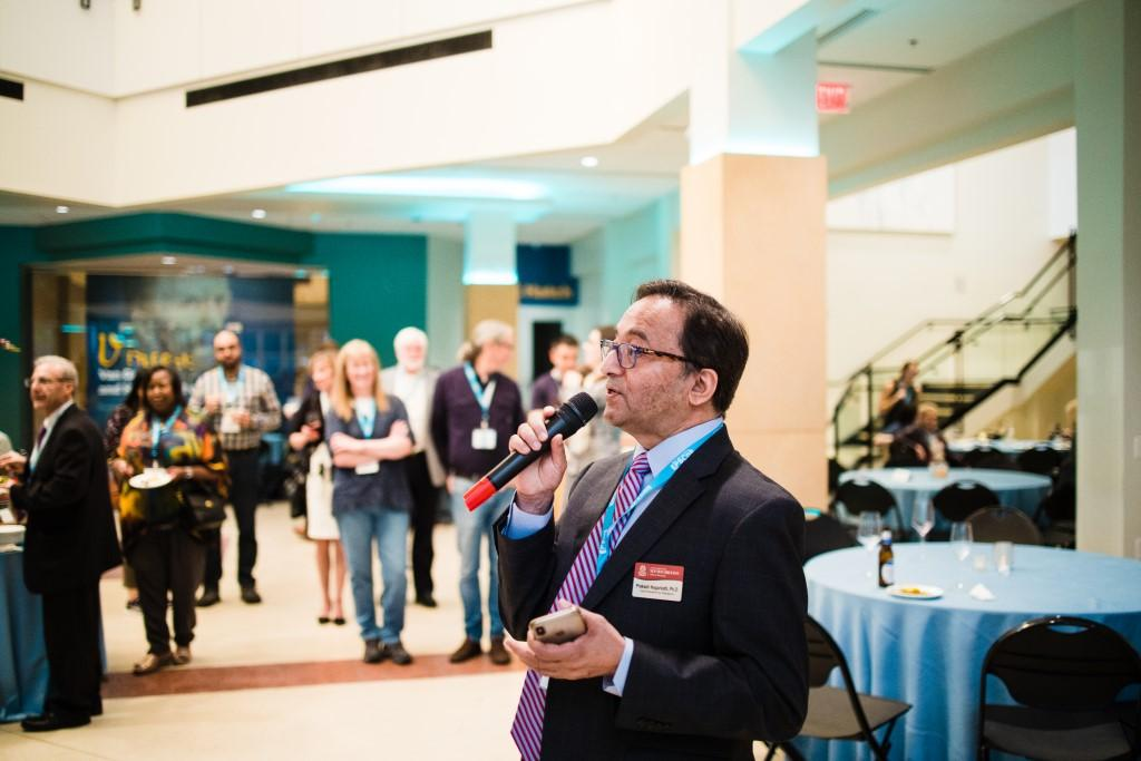 University of South Carolina Vice President for Research, Prakash Nagarkatti, greeted attendees at the conference welcome reception.