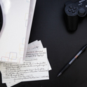 Notes and a game controller