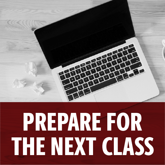 Prepare for the next online class