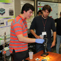 students demonstrating their research project during the Sustainability Showcase event