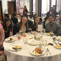 students at the community partners breakfast