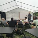 Garden Manager, Matt Kipp, teaching in outdoor classroom