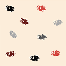 Sand cocky confetti background