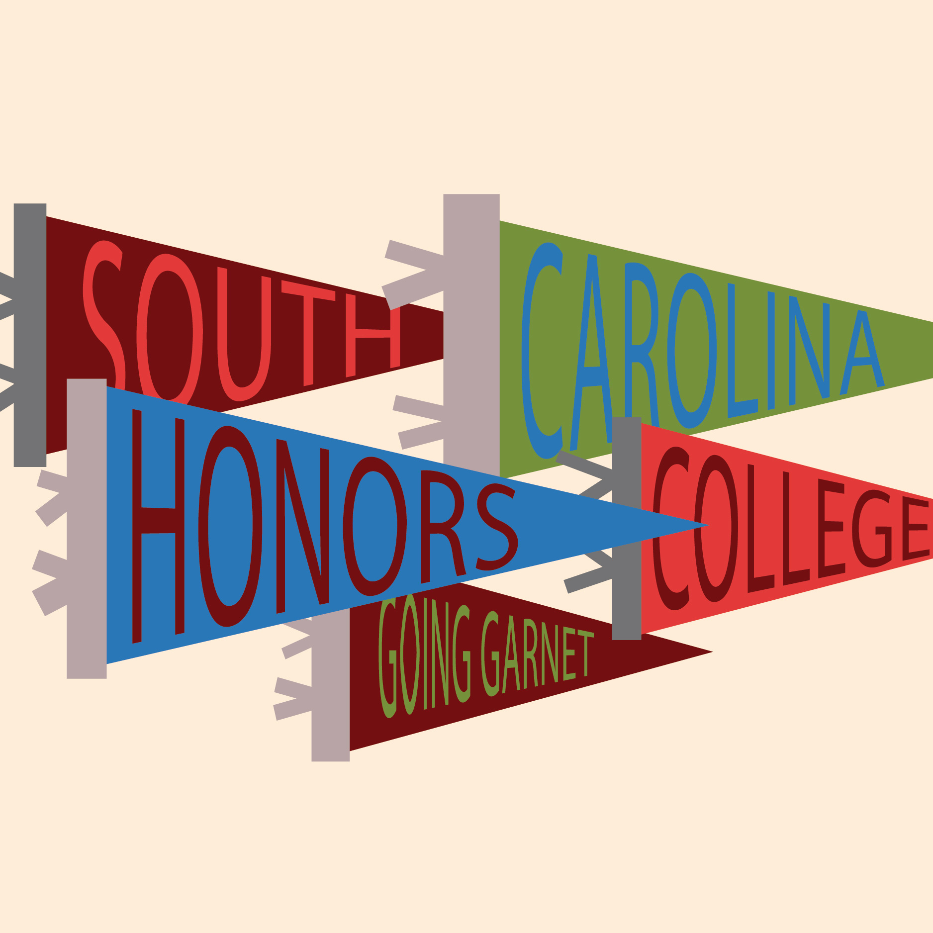 uofsc honors college going garnet pennants