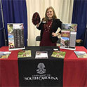 admissions rep allie warrick at a college fair