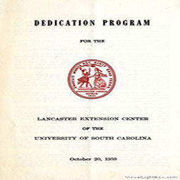 Cover of Dedication Program
