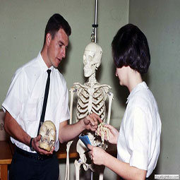 A professor and student interaction in 1959