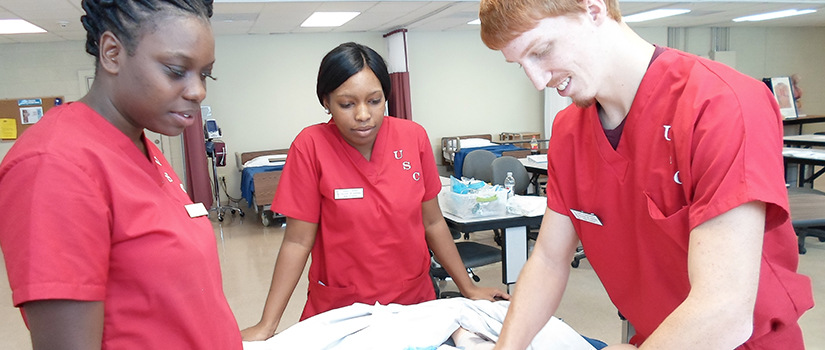 Nursing students in class at USC Salkehatchie