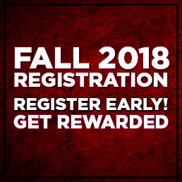 Fall 2018 Registration is Here!