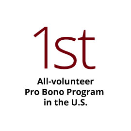 Infographic: 1st all-volunteer Pro Bono program in the U.S.