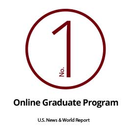 Infographic: #1 (#2 Overall) online graduate programs, US News and World Report