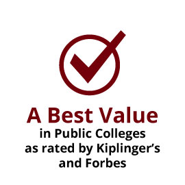 A Best Value in Public Colleges as rated by Kiplinger's and Forbes
