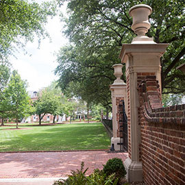 beautiful green space on the historic horseshoe with the iconic horseshoe gates