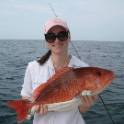 Michelle Passeroti with red snapper