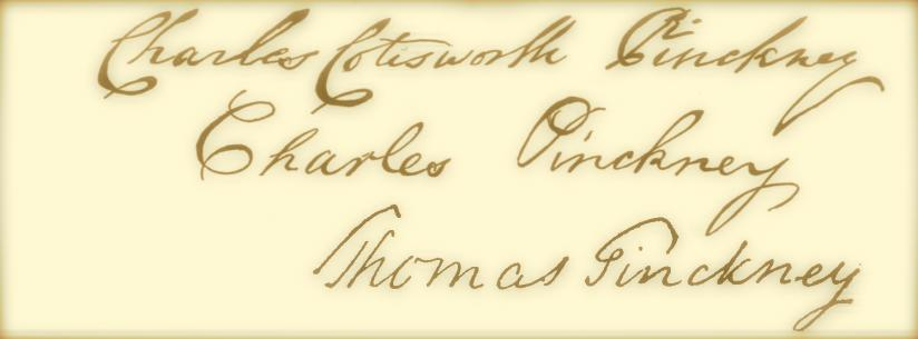 three pinckney signatures