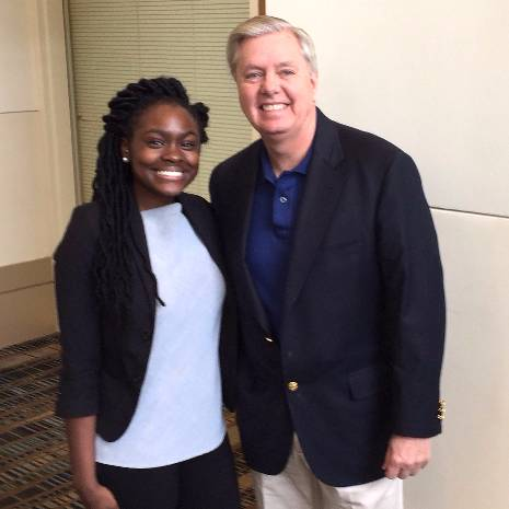 Antionna Fuller with Lindsey Graham