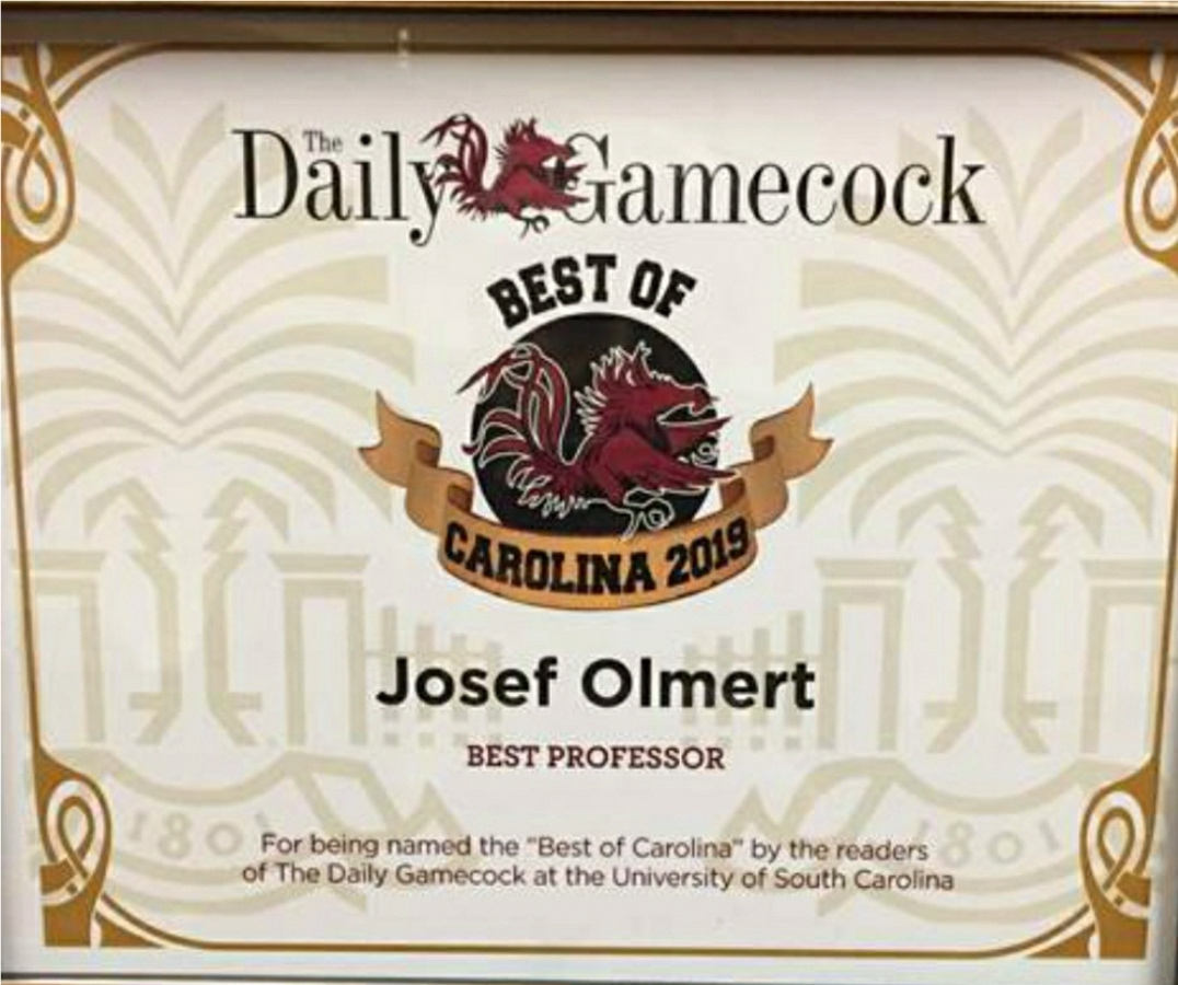 Congratulations to Joseph Olmert on his Best of Carolina 2019 award!