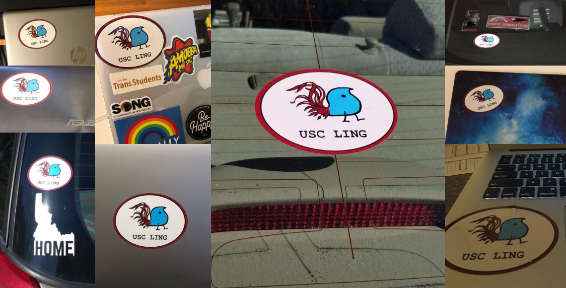 Collage of UofSC Wug Stickers