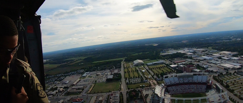 Helicopter over Williams Brice Stadium