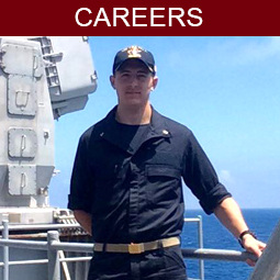 Navy ROTC cadet on ship
