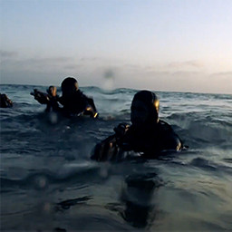 Navy Seals in water
