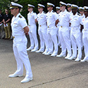 navy cadets in summer white