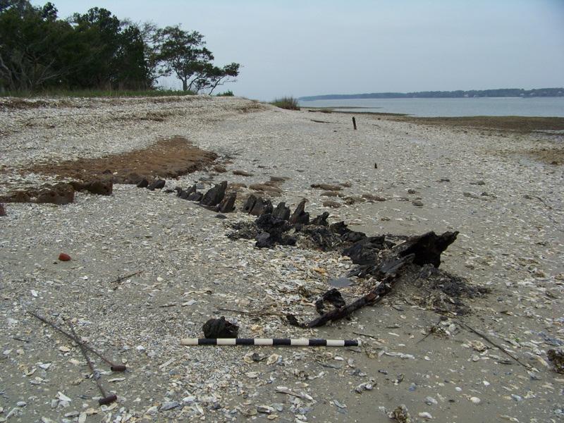 2011 site assessment of the Hilton Head Island Wreck. (SCIAA photo)