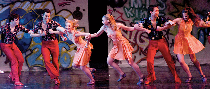 "Students perform in Twyla Tharp's ""Deuce Coupe"""