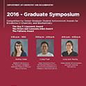 Graduate Symposium Finalists Announced
