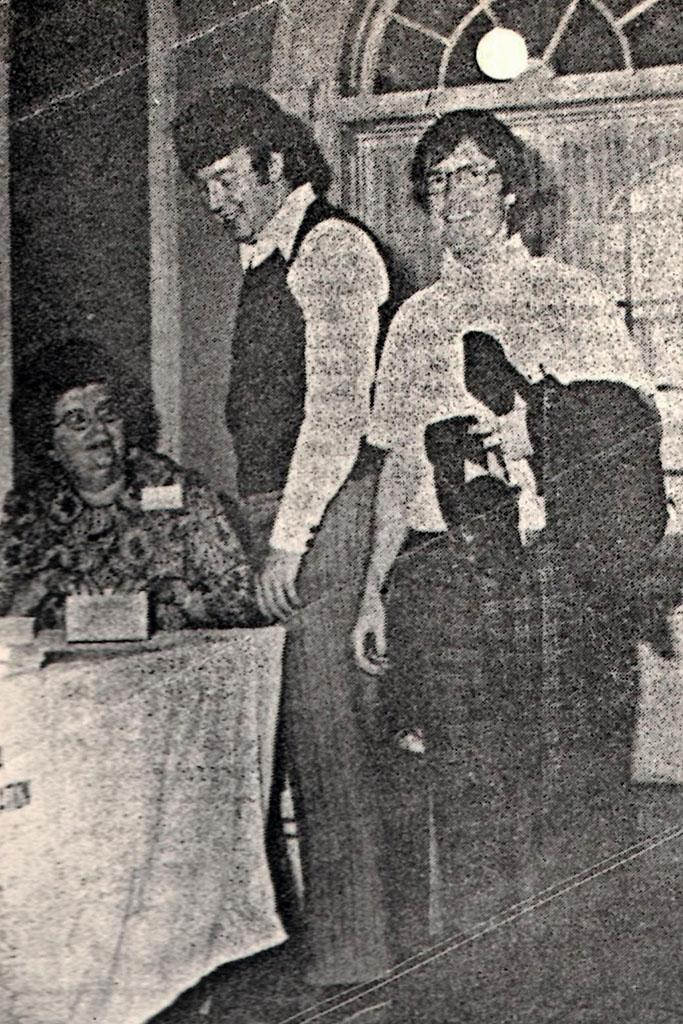 Jack Bryan (right) attended the 48th convention of South Carolina Library Association in 1973.