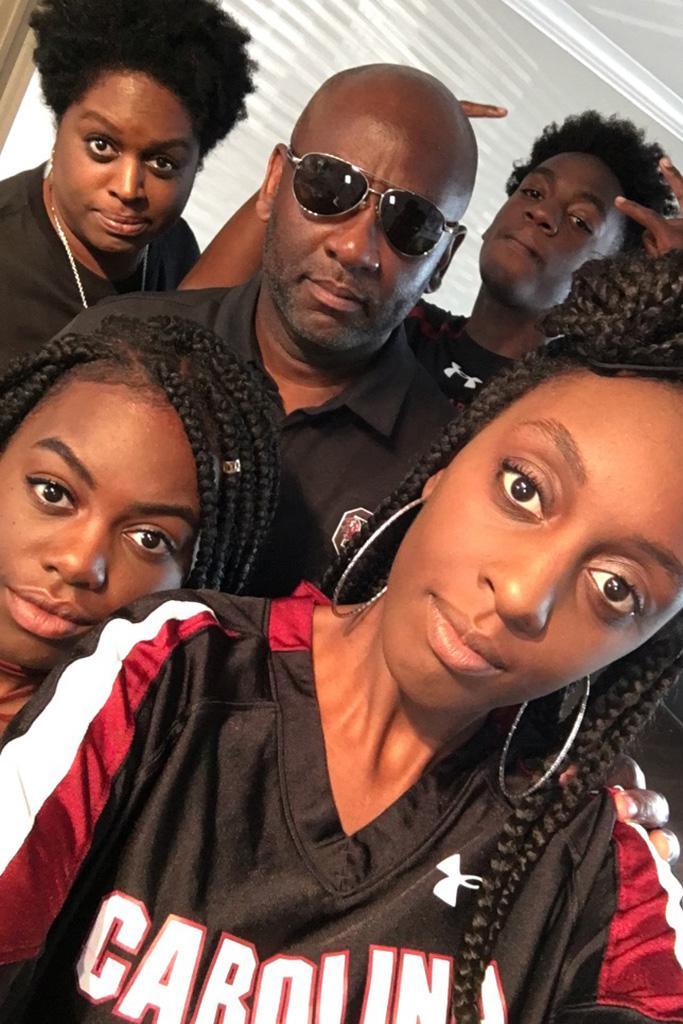 A Grimes family selfie.