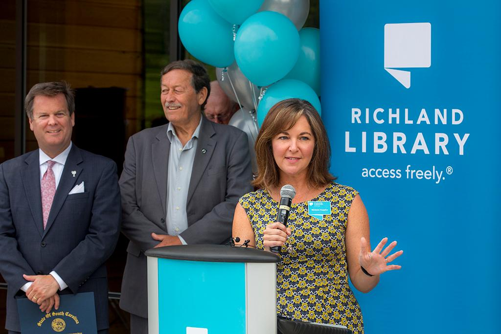 Melanie Huggins is the executive director of Richland Library.