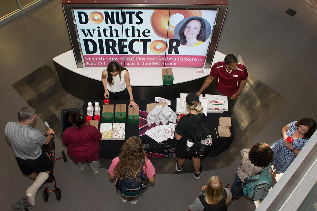 SJMC Donuts with the Director