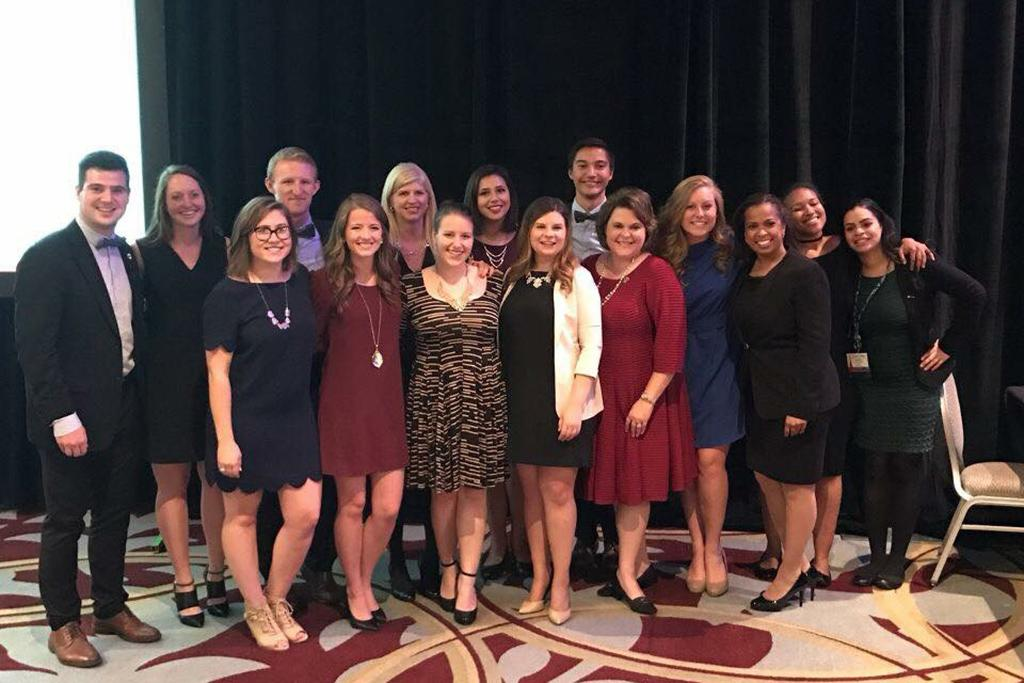 2016-2017 PRSSA National Committee and Advisors — picture taken at the PRSSA International Conference in Indianapolis, Davis' first year as the PRSSA National Professional Advisor.