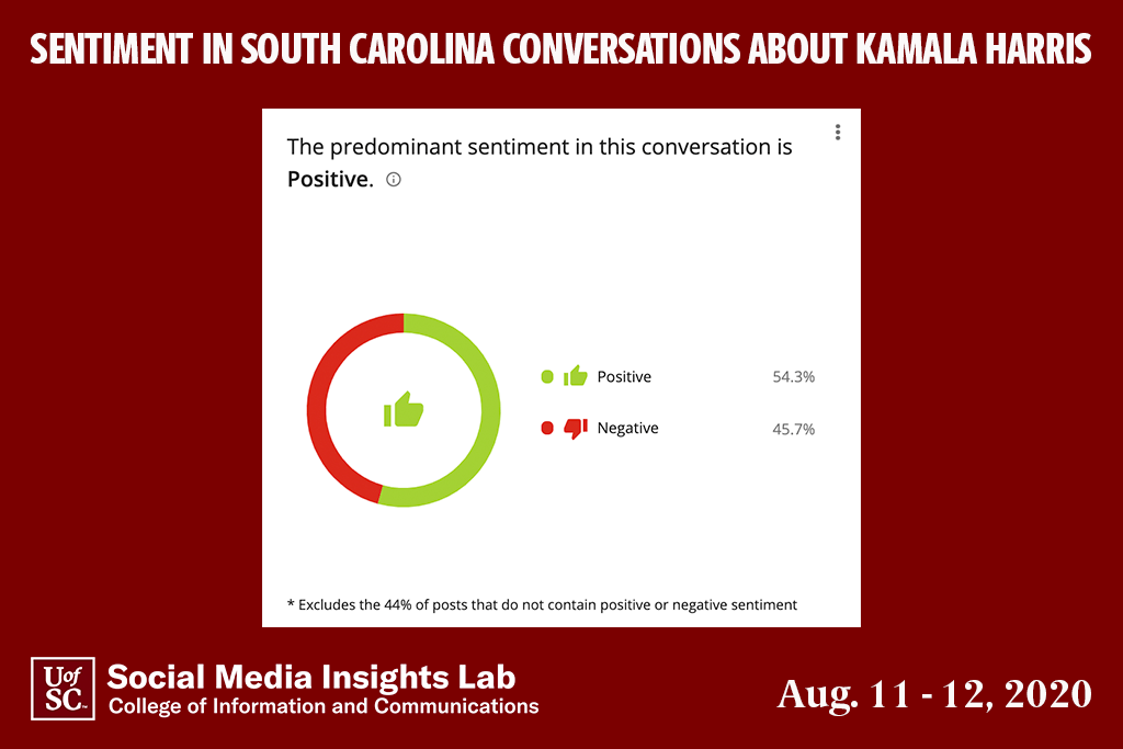 Among posts that contain sentiment, more than half were positive (54.3 percent), though a significant number (45.7 percent) were negative. About half the comments were informational and did not contain sentiment.