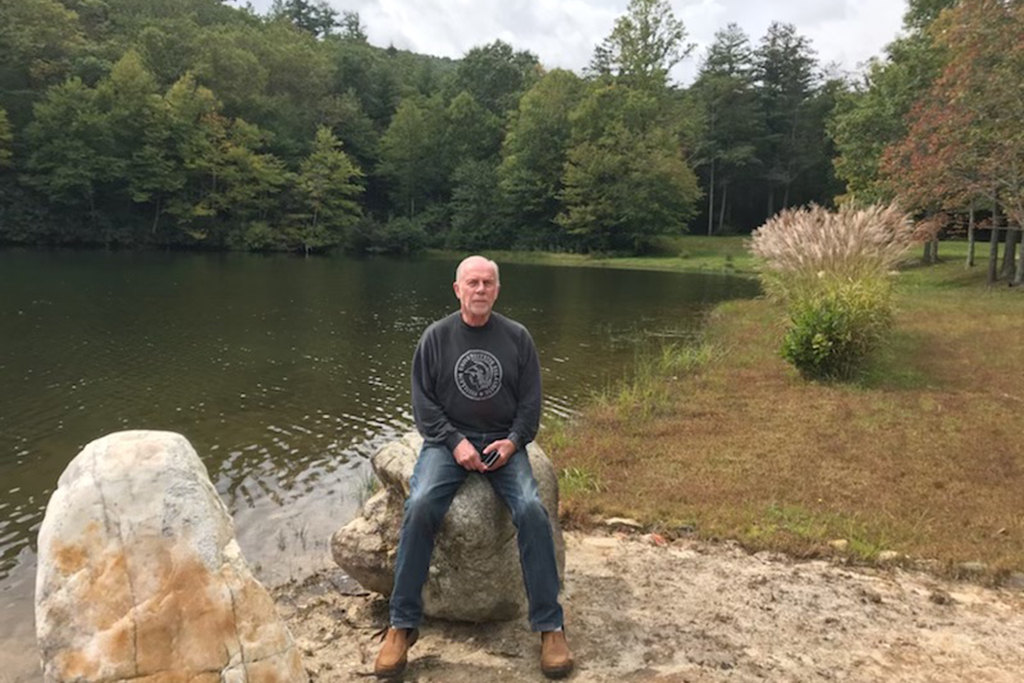 Charles Bierbauer now spends most of his time in western North Carolina isolating in the mountains.