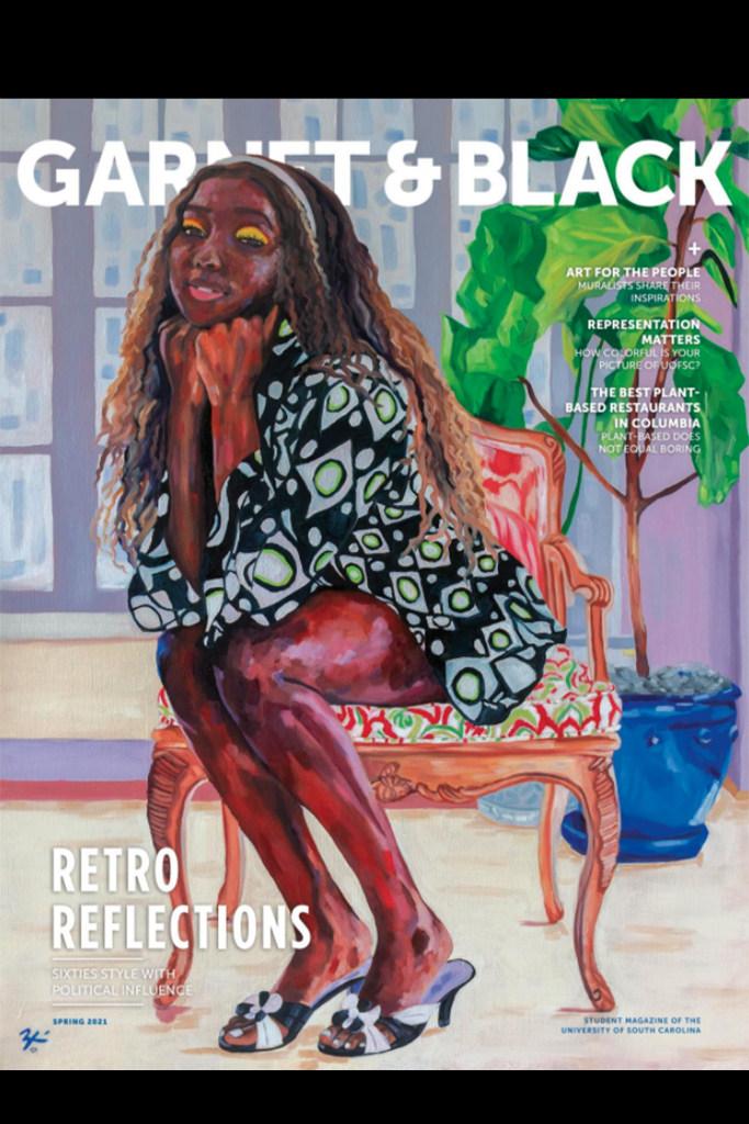 Zhané Bradley, Garnet & Black magazine cover - Best in Cover Design