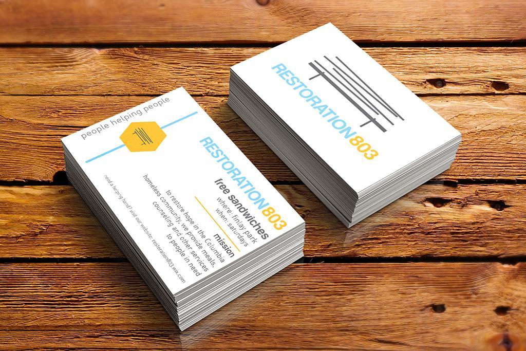 Restoration business cards.
