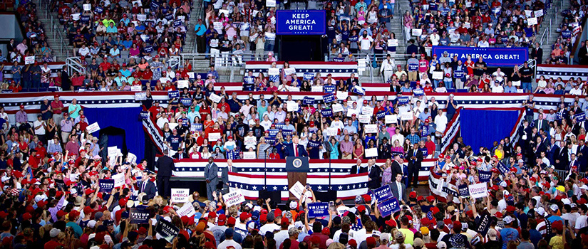 President Trump rally in Greenville, North Carolina.