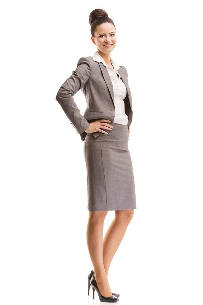 Example of business professional dress for a female.