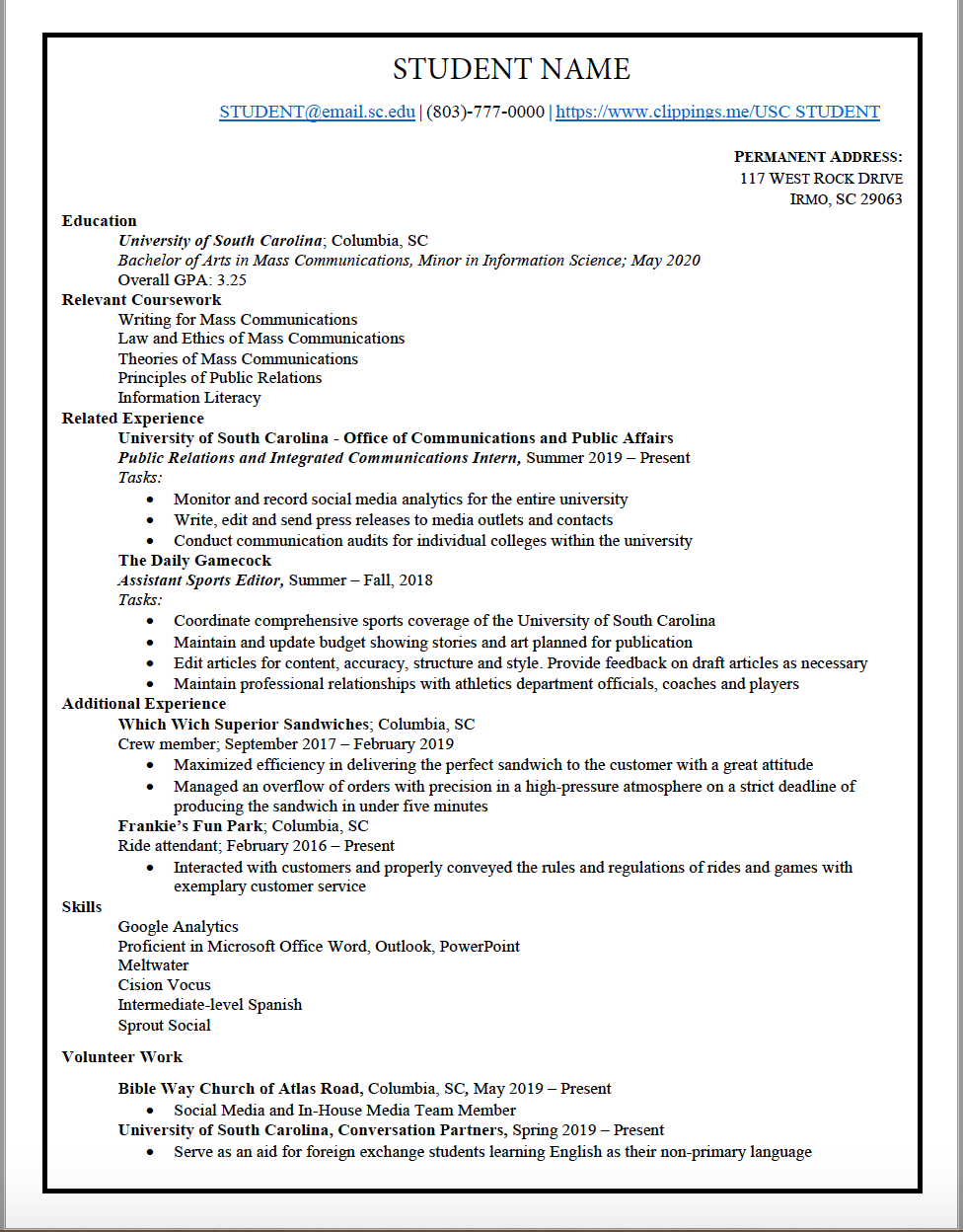 Professional resume services online columbia sc