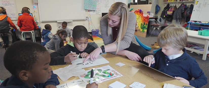 CarolinaTIP teacher in diverse public school classroom