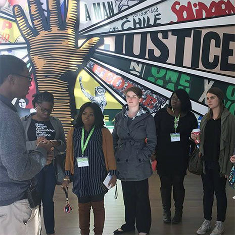 urban cohort students at a museum
