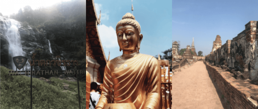 collage of three photos from Thailand