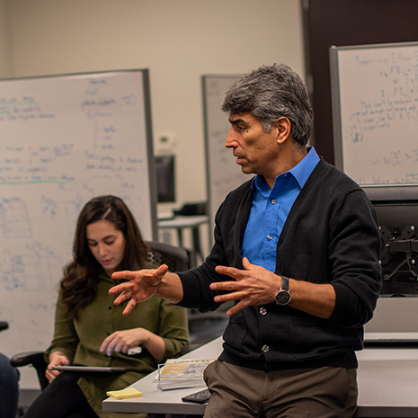 Dr. Valafar teaches grad students