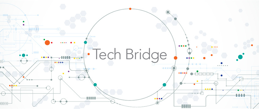 graphic with word tech bridge