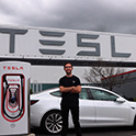 brian youngblood outside Tesla office