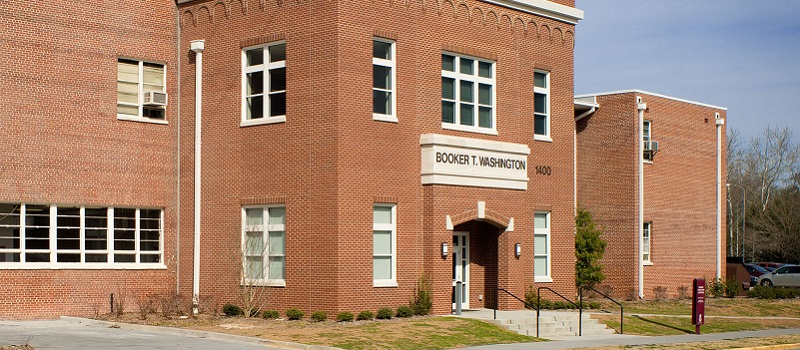A photo of the Booker T. Washington building on UofSC's campus.
